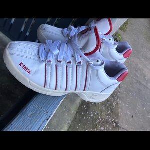 K-Swiss Women's White Sneakers Sz 6.5 US